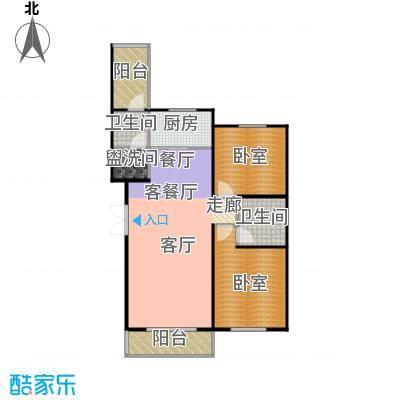 华海城户型1厅2卫1厨
