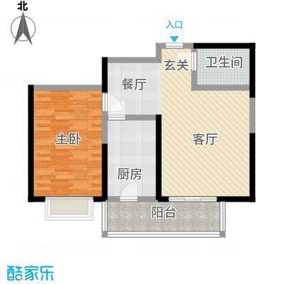 虹畔馨苑6-8号楼1门02单元G1二层一室一厅户型