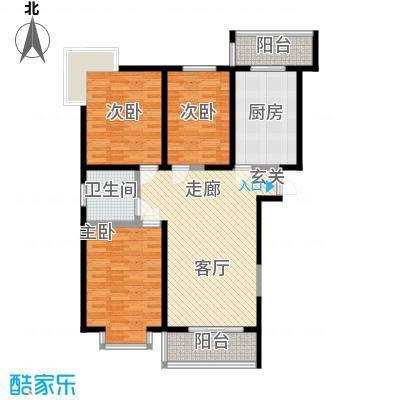虹畔馨苑7号楼01单元I1二层三室一厅户型