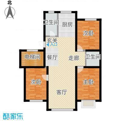 东信桃花源119.21㎡J户型3室2厅1卫