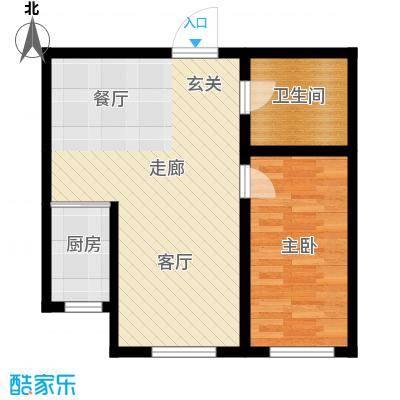 东信桃花源G/N户型1室1厅1卫