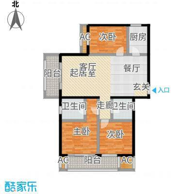 开元花半里d1户型3室2厅2卫户型3室2厅2卫