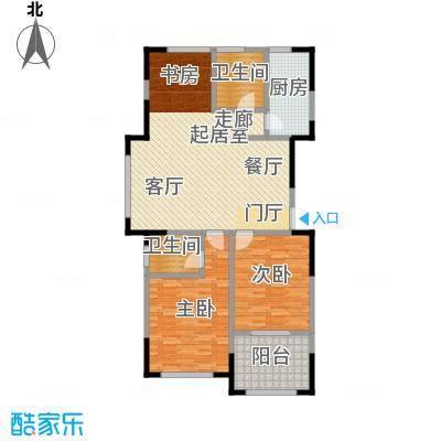云厦阳光福邸115.00㎡M户型3室2厅2卫