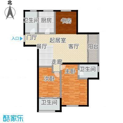 云厦阳光福邸126.00㎡B1户型3室2厅2卫