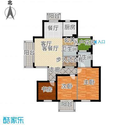 栖霞东方天郡137.00㎡C左岸香颂户型3室1厅2卫1厨