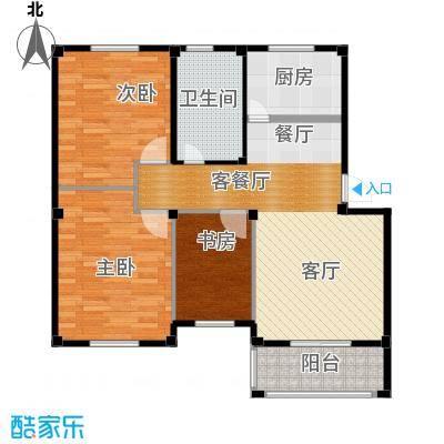 东海明园89.35㎡3#&4#楼02、04户型3室2厅1卫