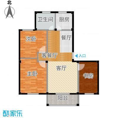 东海明园96.16㎡5#楼02户型3室2厅1卫