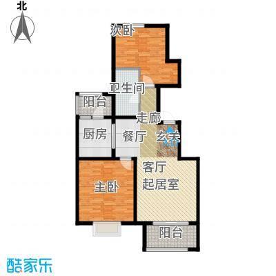 君悦花苑95.00㎡高层B1户型2室2厅1卫