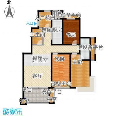 东亚原香小镇126.46㎡东亚原香小镇K户型:三室两厅两卫户型3室2厅2卫
