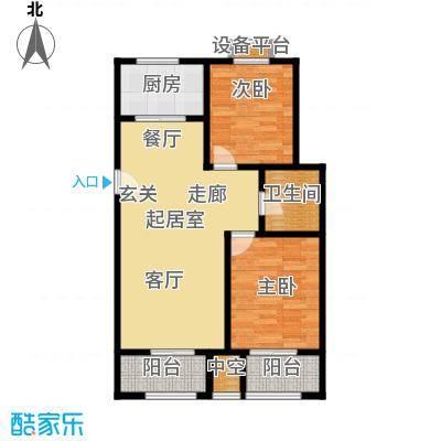东亚原香小镇77.96㎡东亚原香小镇I户型:两室两厅一卫户型2室2厅1卫