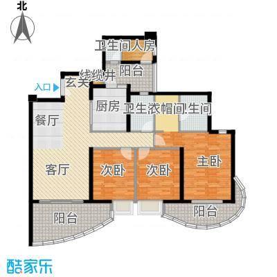 龙湖世纪峰景134.00㎡B4户型3室2厅2卫