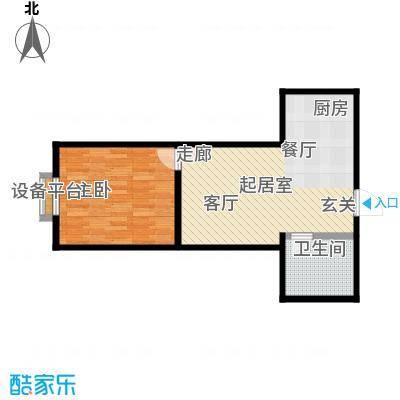 中原车城・铂悦公寓户型1室1卫