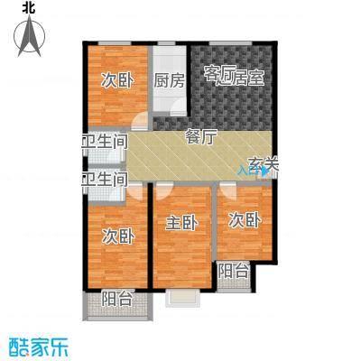 红日景园红日景园 户型图4室2厅2卫 136.37m²户型4室2厅2卫