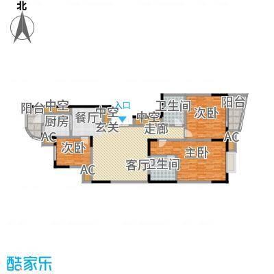 华庭锦绣苑144.20㎡户型图户型3室2厅2卫S