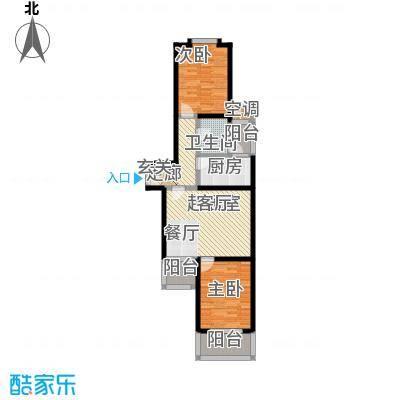 曲阳名邸84.70㎡房型: 二房; 面积段: 84.7 -109 平方米; 户型