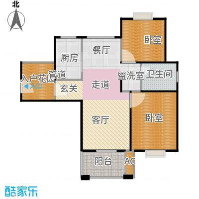 招商南桥1号90.00㎡二房二厅一卫-94平方米-45套户型