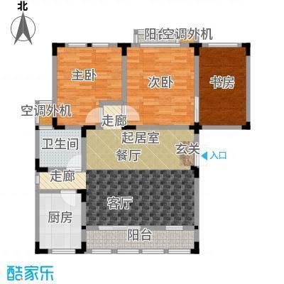 中大诺卡小镇103.00㎡2期小高层3#楼 L-B17户型3室2厅1卫