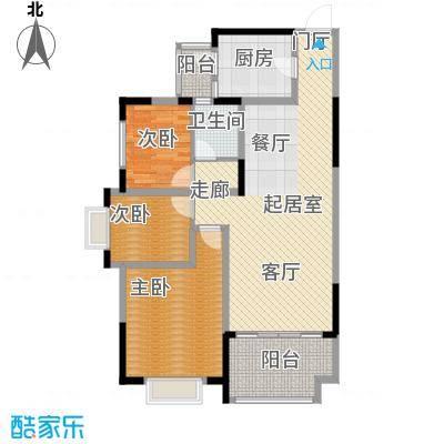 龙光城93.01㎡51栋Cb-5型3房2厅1卫93.01平米户型3室2厅1卫