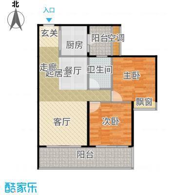 四季公寓83.00㎡E户型2室2厅1卫