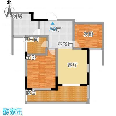 金域兰庭90.00㎡F\'2偶数层户型3室2厅1卫