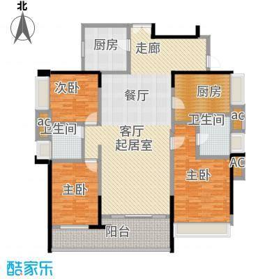 五洲花城二期136.00㎡E2户型4室2厅2卫