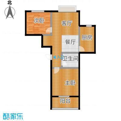 富东景苑77.87㎡户型2室2厅1卫