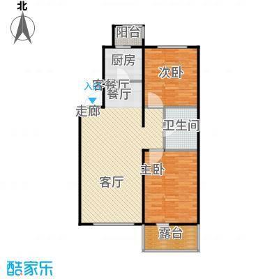 天缘水晶恋城77.26㎡D户型二室二厅一卫户型2室2厅1卫