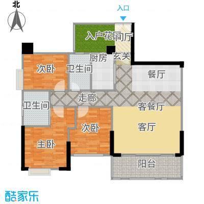 泰然环球时代中心117.00㎡A2户型3室2厅2卫
