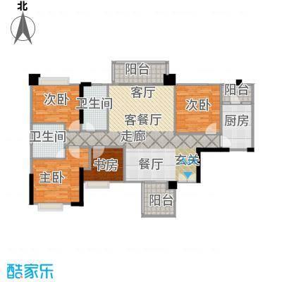 泰然环球时代中心112.00㎡A1户型5室2厅2卫