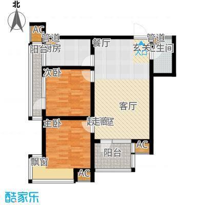钓鱼台三号院户型图户型2室2厅1卫