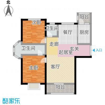 宏润・翠湖天地81.18㎡E1户型2室2厅2卫