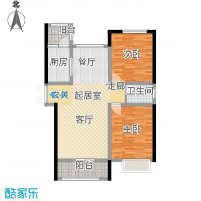 宏润・翠湖天地72.80㎡E3/F3户型2室2厅1卫