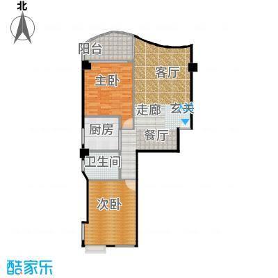 金雅迪大厦95.99㎡两室两厅一卫113m2户型