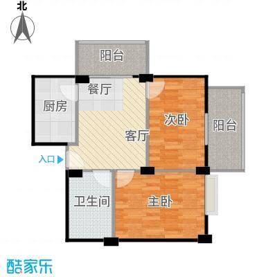 海景1号70.98㎡1号楼01户型2室2厅