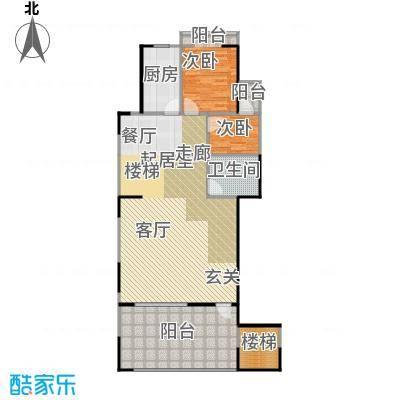 锦业观墅206.10㎡在售A户型二层 五室两厅三卫 私家电梯 6米挑空 保姆房 赠16.6平米户型
