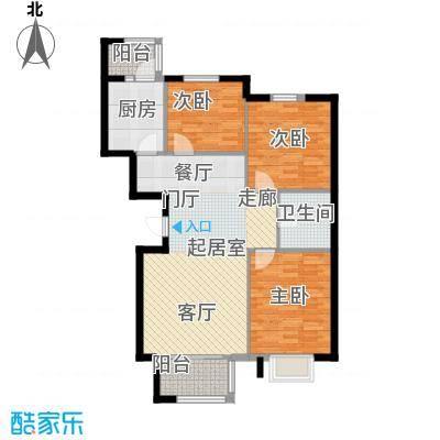 银河家园94.00㎡三室一厅户型