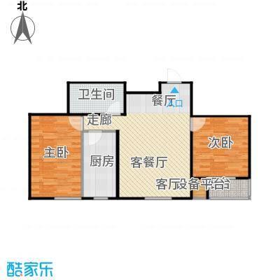 联想科技城光照充足、设计独特户型2室1厅1卫1厨