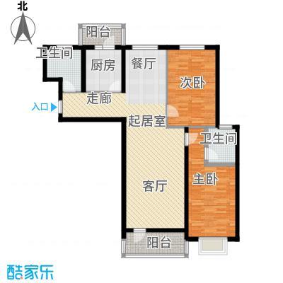 滨洲华府113.00㎡L户型2室1厅2卫