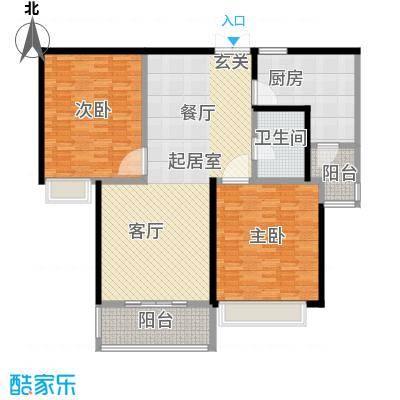 舜奥华府138.00㎡12#2室2厅1卫,138平米户型3室2厅2卫