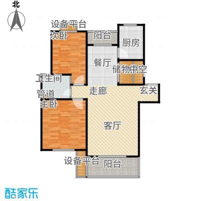 嘉定颐景园92.00㎡房型: 二房; 面积段: 92 -110 平方米; 户型