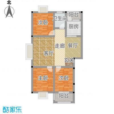 和祥苑95.60㎡1#1型:3房2厅1卫户型
