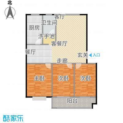 水岸名居115.63㎡10号楼2单元西户型 3室2厅1卫户型3室2厅1卫