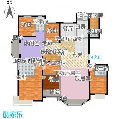 新华联广场-T户型5室4卫1厨