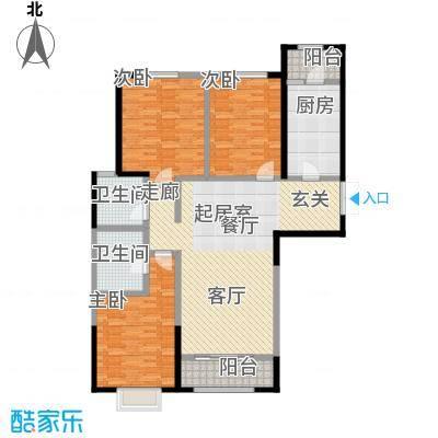 新华联广场-T户型3室2卫1厨