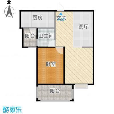 盛和家园未命名户型1厅1卫1厨