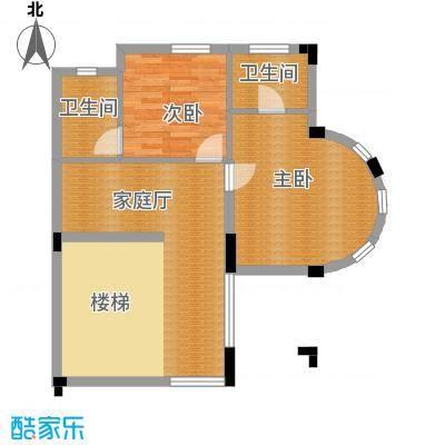 中信新城67.77㎡南入户二层户型5室4厅5卫