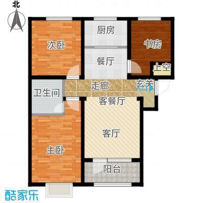 石家庄兰亭108.00㎡C4三室两厅一卫户型3室2厅1卫