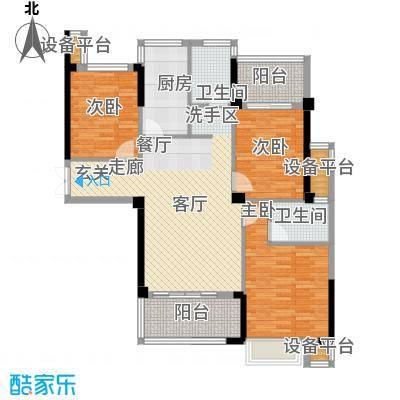 益阳铂金汉宫客厅连接观景阳台主卧带L型转角飘窗户型3室1厅2卫1厨