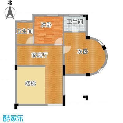 中信新城69.79㎡南入户一层户型5室4厅5卫