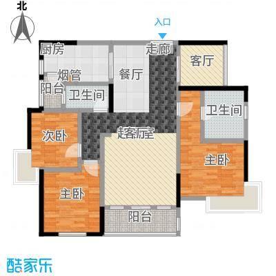新世界曦岸户型3室1厅2卫1厨